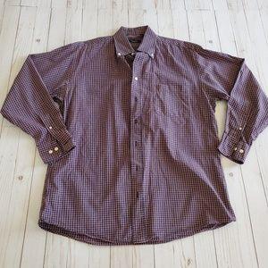 Burberry Plaid Button Down Shirt Size M
